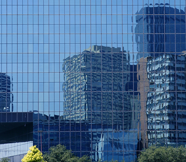 Dallas Downtown City Mirror Skyscraper Buildings